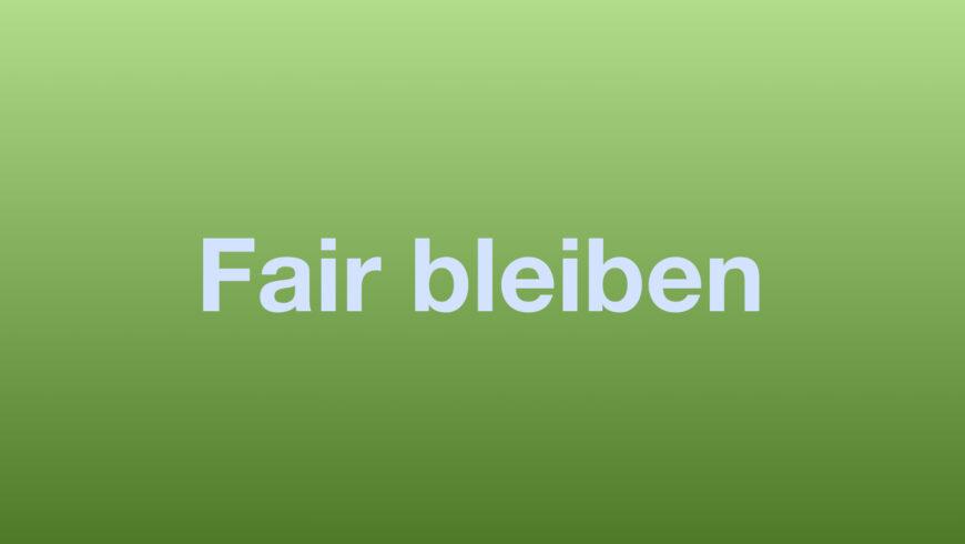"""""""Fair bleiben"""" – ein Klassenprojekt zur Gewaltprävention"""